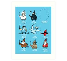 Know Your Wizards ! Art Print