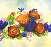 A Beautiful Life - Vintage Flower Art by Jordan Blackstone