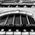 Flinders Street (in black &amp; white) by Kylie Reid