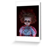 Spooky Dolls Greeting Card
