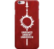 Unbowed - Unbent - Unbroken iPhone Case/Skin
