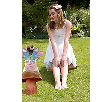Chloe & The Young Fairy Photographic Print