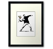 Banksy - Flower Thrower Framed Print