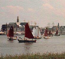 Sailboats by Gilberte