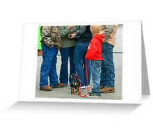 Kids and Puppies...and Blue Jeans Greeting Card