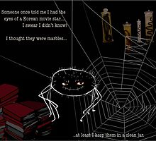 A spider has to have interests of his own...  Studly sincerely lives to collect. by Incognita
