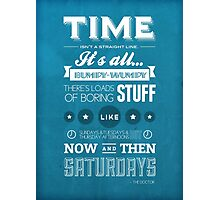 Doctor Who Quote Photographic Print