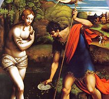 'Baptism of Christ' by Parmigianino by Legacy1Gallery