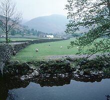 Bridge and Farm Brothers Water Lake District England 198405220004 by Fred Mitchell