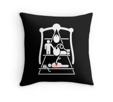 Alien Xenomorph Life Cycle Pyramid Throw Pillow