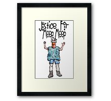 Justice for Meep Meep Framed Print