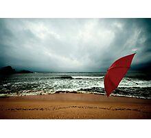 Red Umbrella II Photographic Print