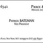Patrick Bateman Business Card by Troy V
