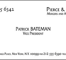 Patrick Bateman Business Card by Troy V