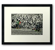 Tagged Framed Print