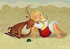 Birgit's first Christmas in Australia by kernelcopia