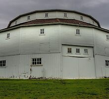 Round White Barn by Adam Kuehl