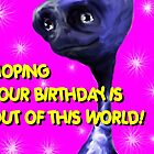Alien Birthday Card by sonia
