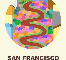 City Art San Francisco Lombard street by uzualsunday