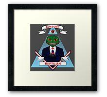 Consume Reptilian Framed Print