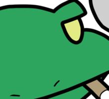 Smoking Frog Sticker