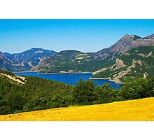 Mountains, forest and lake Photographic Print