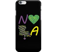 I heart NOLA (Mardi Gras) iPhone Case/Skin