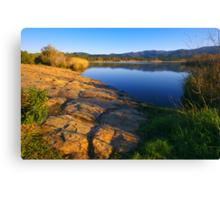 Provence lake landscape - 1 Canvas Print