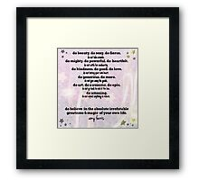 Do and Do Not... by Amy Ferris Framed Print