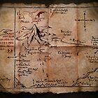 Thror's Map | Thorin Oakenshield's Map - Digital Artwork  by Daniel Watts