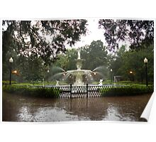 The Fountain In Forsyth Park Poster