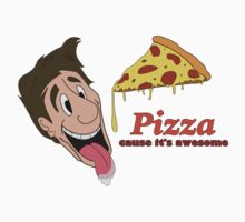 Pizza - cause it's awesome Kids Clothes
