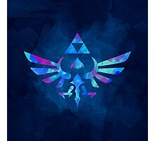 Skyward Sword Paint Blue Photographic Print