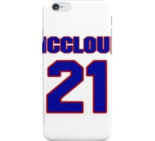 Basketball player George McCloud jersey 21 iPhone Case/Skin