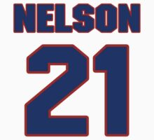 Basketball player Louie Nelson jersey 21 by imsport