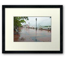 River Street, Savannah Framed Print