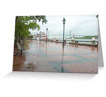 River Street, Savannah Greeting Card