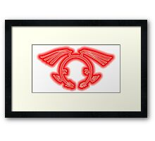 The Crimson Dragon's Mark Framed Print
