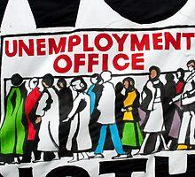 Unemployment banner at British demonstration by EricHands
