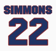 Basketball player Cedric Simmons jersey 22 by imsport