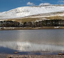 Craig Fan Ddu in Winter Brecon Beacons Wales by Nick Jenkins