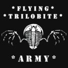 Flying Trilobite Army - white by Glendon Mellow