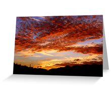 Blood Red Sunset Greeting Card