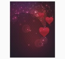 Background with red heart 2 Kids Clothes