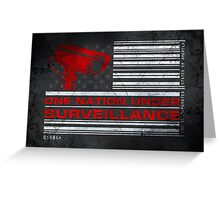 One Nation Under Surveillance - ihone & Laptop shell Greeting Card