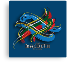 Macbeth Tartan Twist Canvas Print