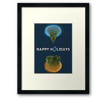 Happy Portal Holiday Framed Print