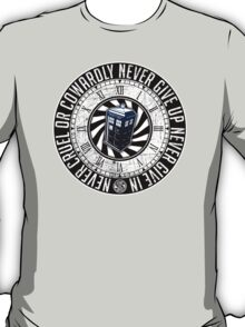 Never Cruel Or Cowardly - Doctor Who - TARDIS Clock T-Shirt