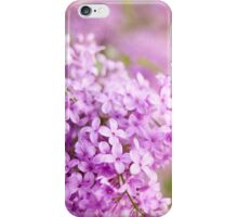 Pink Syringa or lilac flowerets blurry iPhone Case/Skin