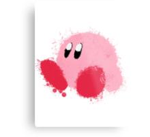 Kirby Splatter ~ ☆ Metal Print